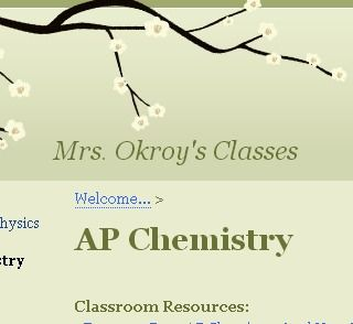 Great Review Site from AP Chem Teacher Mrs. Okroy. I'll be glad I pinned this one day. I have AP Chemistry next school year.