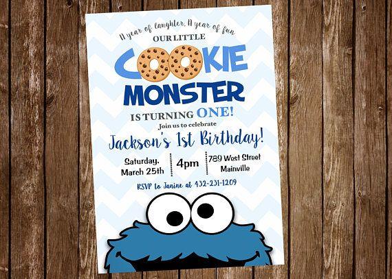 Monstruo de las galletas primer cumpleaños 1r cumpleaños un