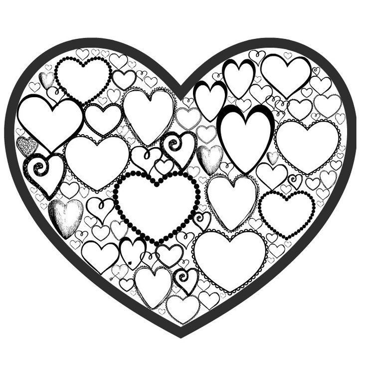 heart designs coloring pages - photo#33