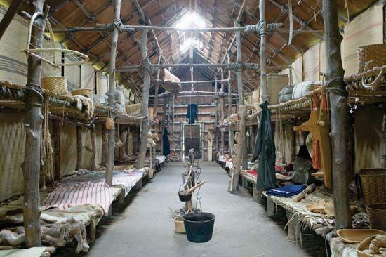 手机壳定制outlet store johnson creek wi shoes Photograph The interior of a reconstructed longhouse shows the typical living space shared by as many as  Iroquois families