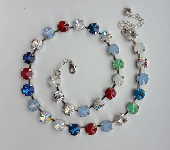 Check out this item in my Etsy shop https://www.etsy.com/ca/listing/561005752/swarovski-crystal-multicolor-rhinestone