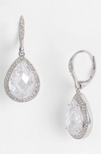 Pretty #expensive Looks cloudy?: Nadri Pear Drop Earrings (Nordstrom Exclusive) available at #Nordstrom