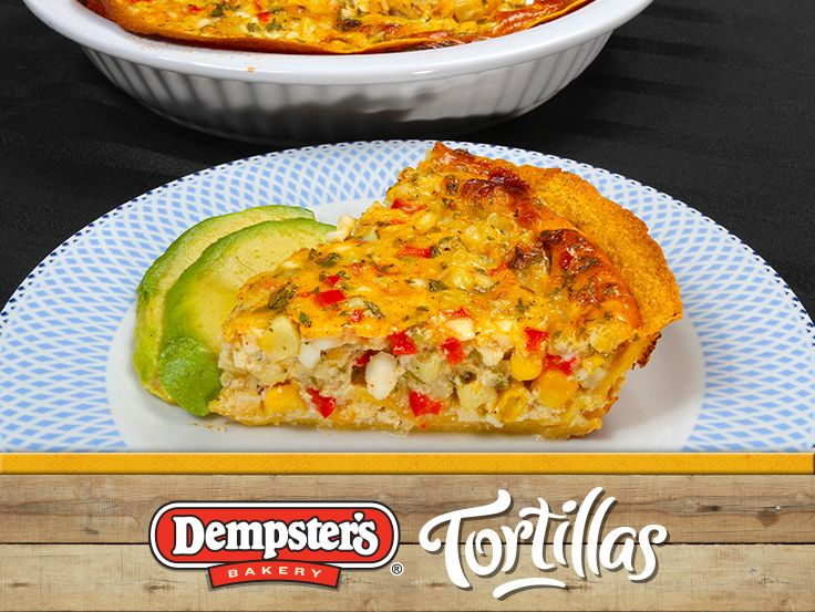 The Jalapeno Corn Quiche is another exciting way to use your tortillas to the fullest. @Dempster's® Bakery #WrapItUp