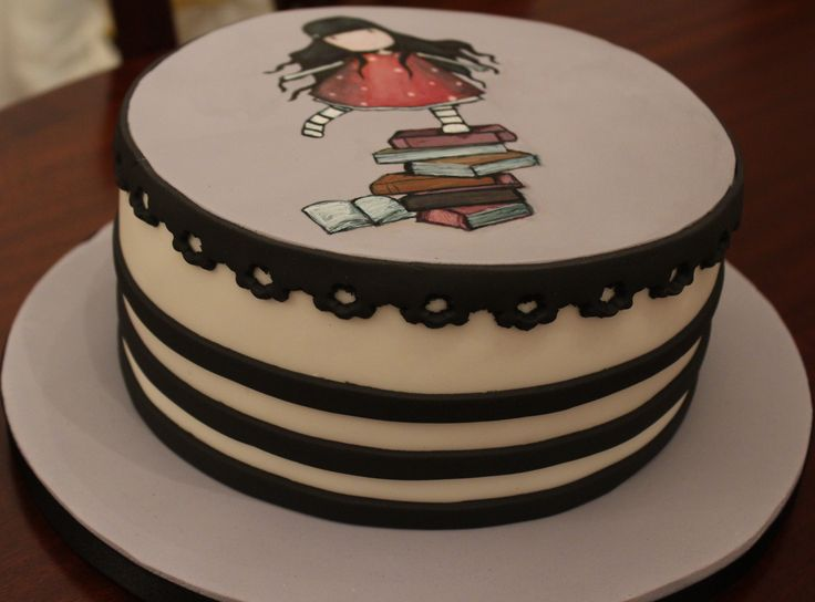 Gorjuss Santoro hand painted cake.