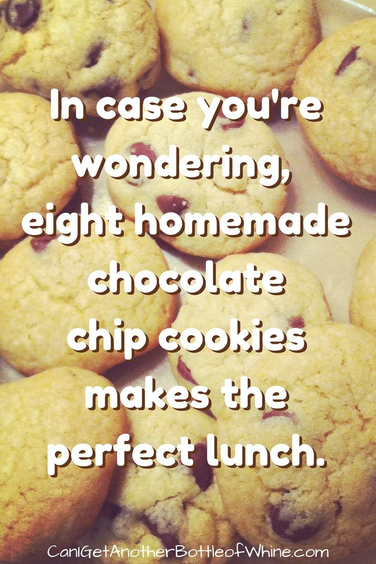 Eight chocolate chip cookies makes the perfect lunch #meme #funny #humor