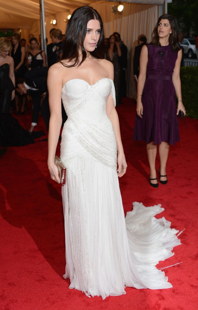 Ashley Greene in Donna Karan    Costume Institute Gala 2012 Red Carpet ... keeping her hair simply messy but somehow elegant with her super formal gown!