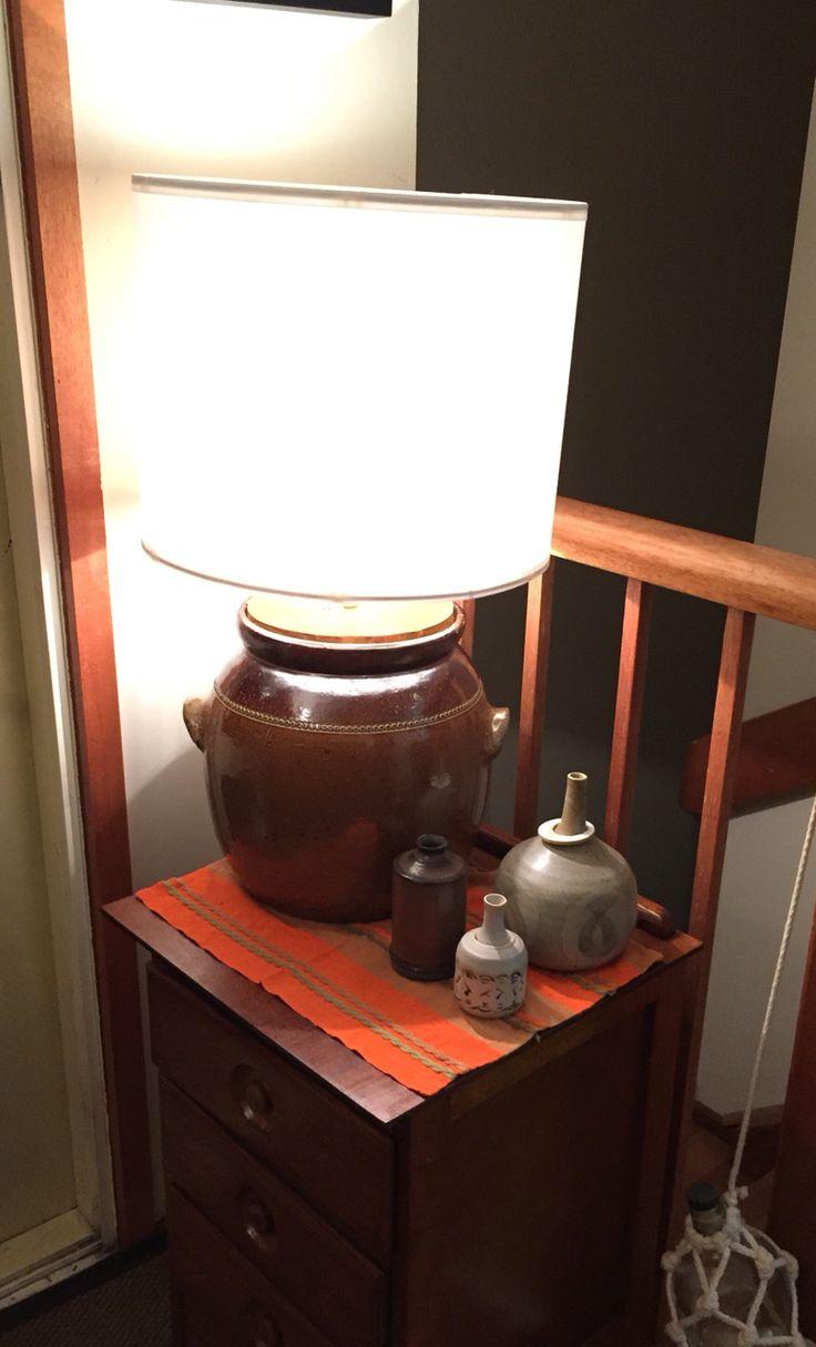 Bendigo pottery Croc - as a lamp