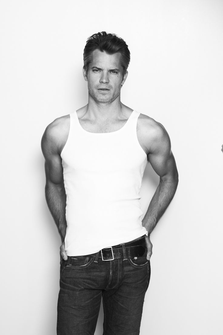 Timothy Olyphant. Tank and jeans. Lovely.