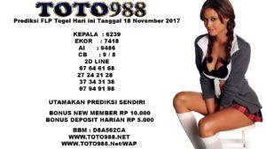 Prediksi FLP Togel Hari Ini Tanggal 18 November 2017
