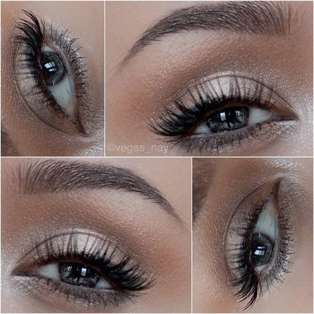Using Urban Decay Naked 2 Palette 1.) prime eye with primer potion  pat BOOTYCALL on lid 2.) blend in CHOPPER through crease like a windshield wiper; blend well for a natural look 3.) FOXY on brow bone 4.) lightly line middle top lash line  outer w/ BLACKOUT  smudge a tiny bit to lower lash line 5.) highlight inner top lid  inner lower lash line w/ VERVE to make everything pop 6.) apply Loreal Voluminous mascara BUT before applying, wipe wand off w/ toilet paper