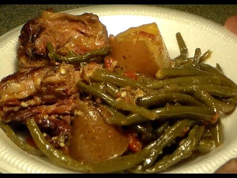 Great Southern-Style Green Beans With Turkey Necks & Potatoes: String Beans Recipe