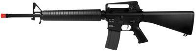KWA KM16 Airsoft Battle Rifle AEG, 2013 Model airsoft gun by KWA. Save 29 Off!. $284.95. Take aim and fire with the KWA KM16 Battle Rifle, 2013 Model . This gun is the latest addition in the KWA M4/M16 AEG series, and is built using an unbeatable combination of high-grade metal alloy and impact resistance polymers. The rifle features semi/fully automatic firing, a high-capacity 350 Rd magazine, and a shot velocity of 420 fps (using .20g BBs). The hidden battery compartment in the buttsto...