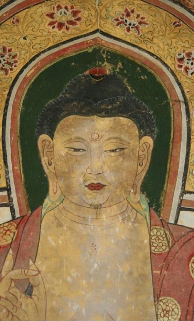 384 best images about amitabha the red buddha on pinterest for Buddha mural art