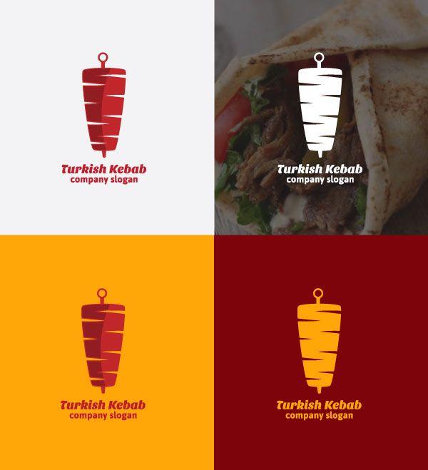Turkish Kebab Logo Template Ready Made Logos For Sale In 2020 Kebab Logo Templates Restaurant App
