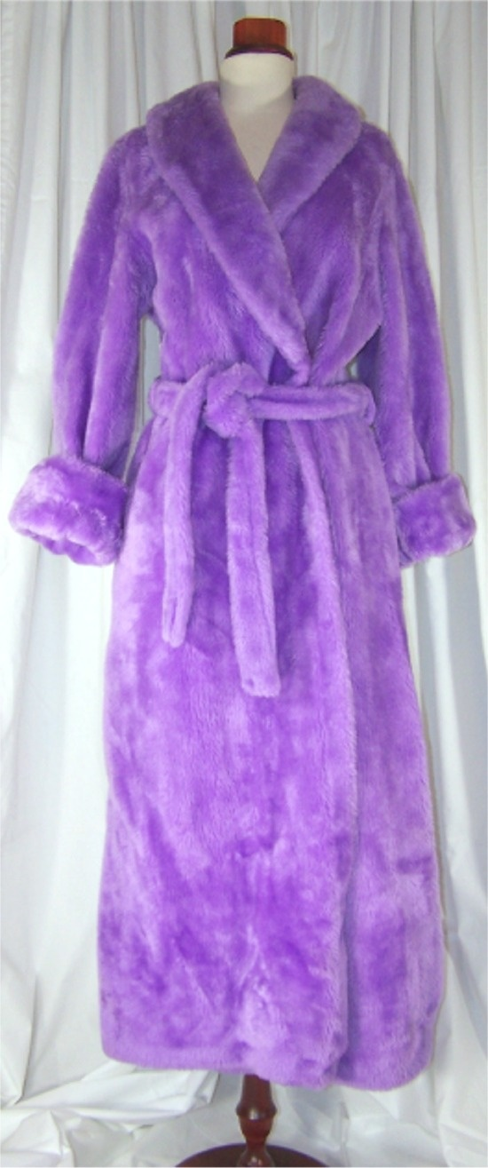 Borg Plush Pile Robe - PURPLE!