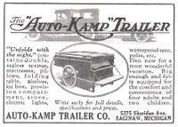 Auto-Kamp Trailer 1926 Ad Picture