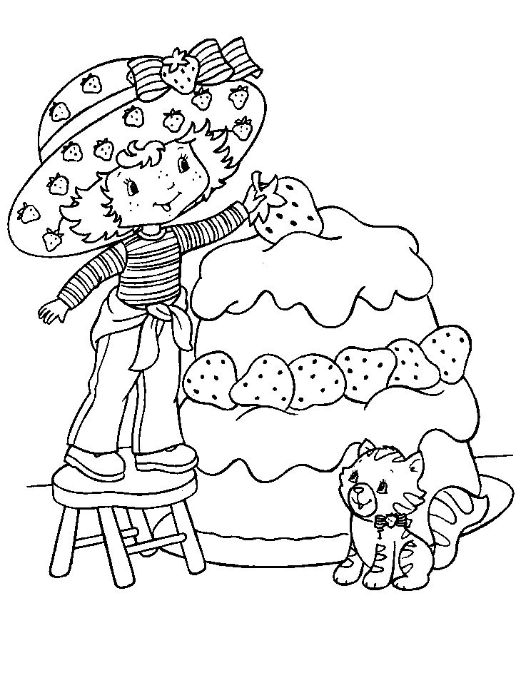 Image detail for -coloring sheets, strawberry shortcake coloring page, cartoon coloirng ...