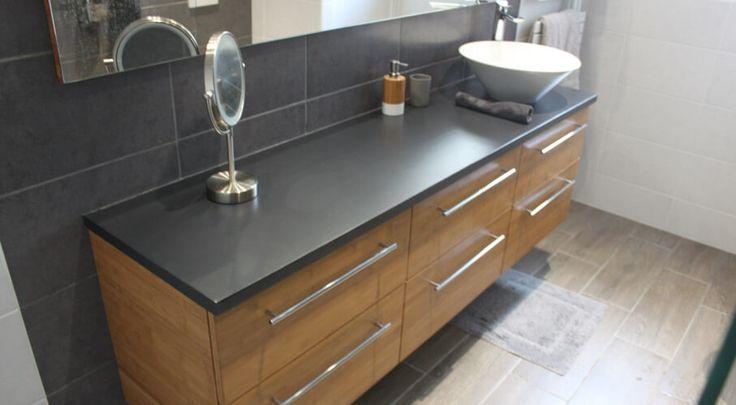 Grands tiroirs bambou pour meuble salle de bain meuble for Meuble salle de bain beton cire