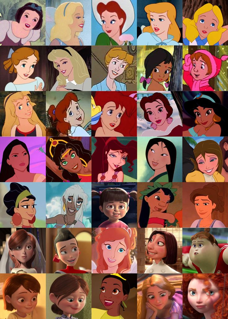 All The Girls Standing In The Line For The Bathroom: Disney Female Characters List With Pictures