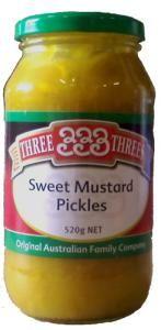 Three Threes Sweet Mustard Pickles