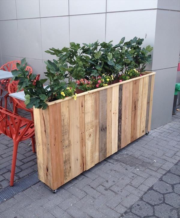 best 25 pallet planter box ideas on pinterest. Black Bedroom Furniture Sets. Home Design Ideas