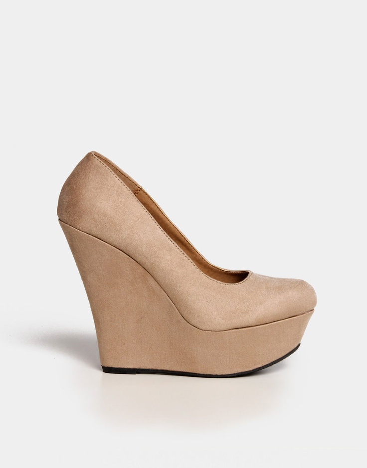 Suede Wedge Pumps :) Nude :)