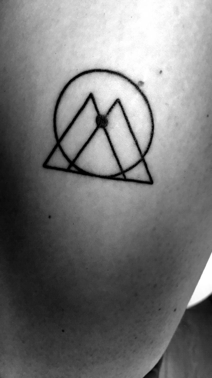 Minimalistic Gemini sign tattoo