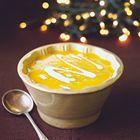 Een heerlijk recept: Nigella Lawson: pompoensoep met zoete aardappelen.