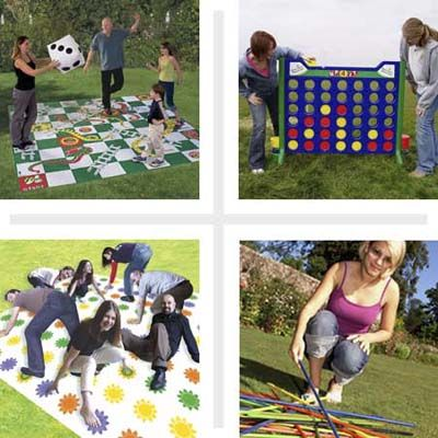 life size, made-for-outdoor versions of popular board games