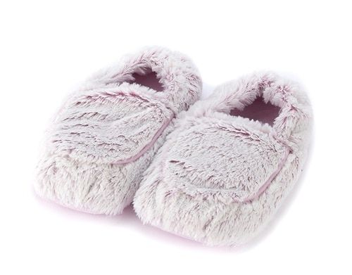 d06ae33ab Warmies Cozy Body Pink Marshmallow Fur Microwavable Slippers   Feet ...