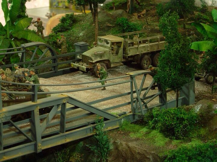 Ducth KNIL in action to attack the Indonesia TNI, 6 hour battle in Jogjakarta-Indonesia 1949, 1/35 scale diorama by ademodelart