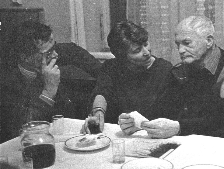 Bohumil Hrabal with some friends