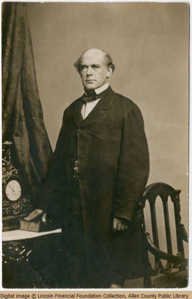 """Salmon P. Chase- Ohioan Governor and Senator, Salmon Chase was known for coining the slogan of the Free Soil Party: """"Free Soil, Free Labor, Free Men."""" Chase had been a former Democrat who had alienated many former Whigs in the Republican Party due to this past affiliation. He also had opposed tariffs that had been demanded by Pennsylvania, which caused opposition from his own Ohio delegation. Chase went on to serve as the Secretary of the Treasury during the Civil War."""