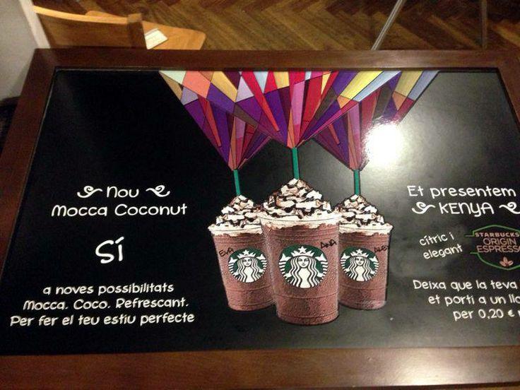 Nuestros nuevos #vinilos para la tienda de Starbucks Rambla Cataluña, en #Barcelona. ¿Qué os parece?