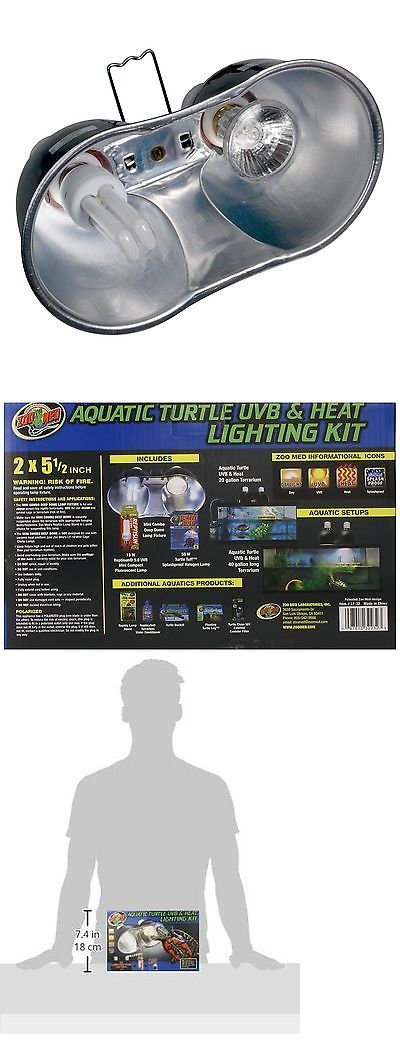Reptile Supplies 1285: Zoo Med Aquatic Turtle Uvb And Heat Lighting Kit New, Free Shipping BUY IT NOW ONLY: $46.0