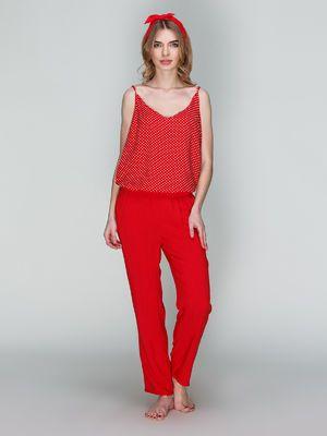 Брюки красные пижамные - Lapin - 3046318