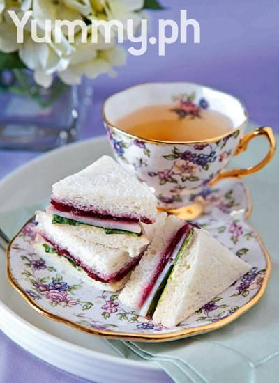Turkey Ham, Cranberry, and Arugula Tea Sandwiches:  These dainty sandwiches are a wonderful combination of sweet and salty, tangy and nutty.