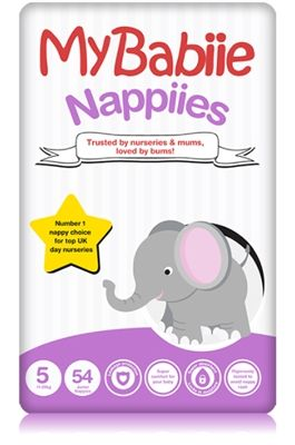 My Babiie Size 5 (11-25kgs, 24-55lbs) nappies are trusted by nurseries and mums, loved by bums. My Babiie spent 5 years and 3 million nappy changes developing the nappy range that put them as a number one nappy choice amongst a leading group of nursery professionals.