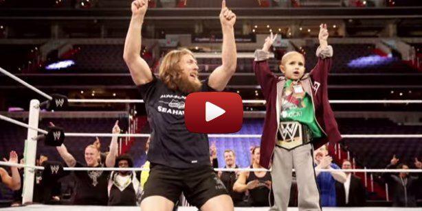 Lutadores Realizam o Sonho de Menino com Câncer. Connor Michalek, um menino de 8 anos com uma paixão pelo WWE realizou um sonho... #vida #cancer #motivation