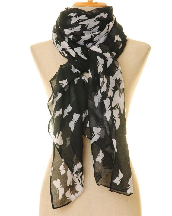 Butterfly Scarf  Butterfly Infinity Scarf  by Tailored2Modesty