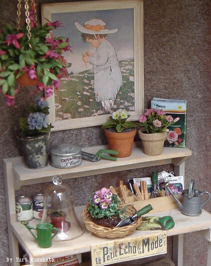 Potting shed in 1 12th scale by yuri munakata for Mini potting shed
