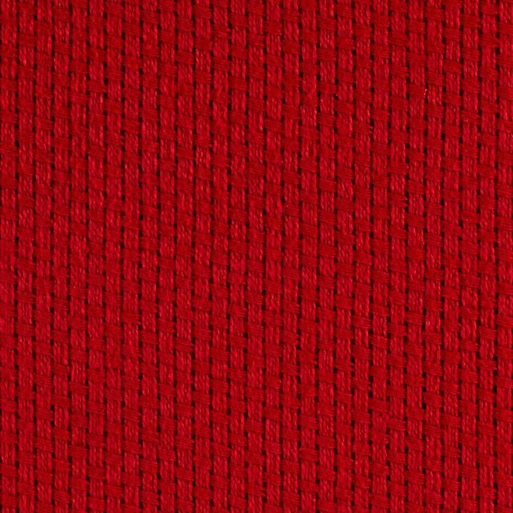 "60"" Monks Cloth Red from @fabricdotcom This cotton fabric features a 4x4 weave/8 count. Monk cloth is used for Swedish/Huck weaving craft, Afghan throws, pillows, curtains and more!"