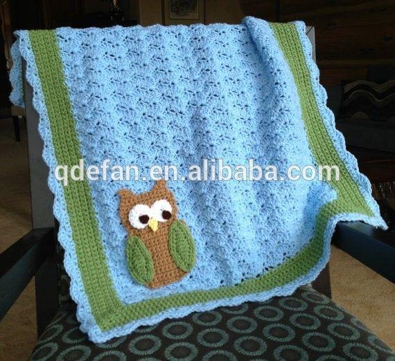 schattige met de hand gehaakt baby deken baby deken haken uil knuffel deken