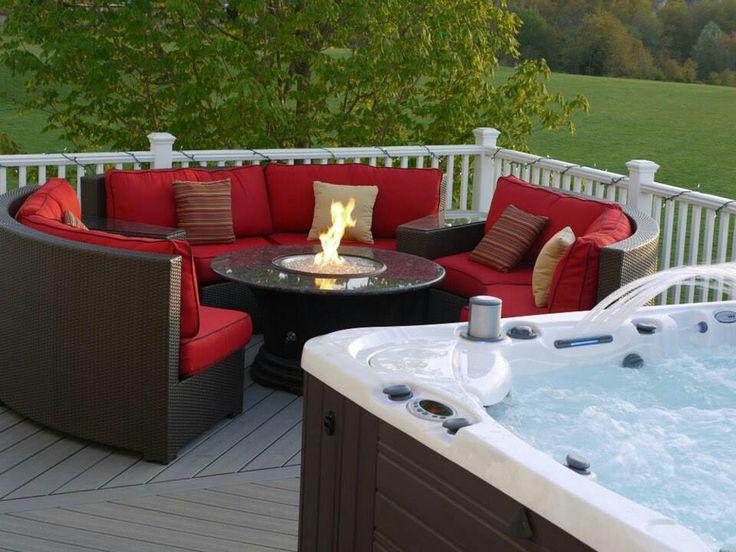 Hot Tub Patio, Outdoor Hot Tubs, Patio Ideas, Backyard Ideas, Outdoor  Ideas, Outdoor Patios, Outdoor Spaces, Sunroom Ideas, Backyard Landscaping