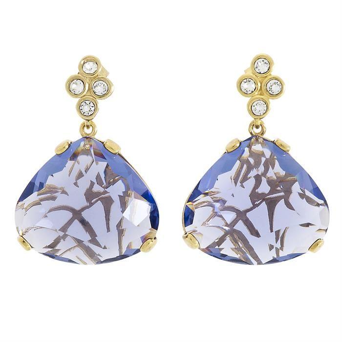 Hermione Tanzanite #küpe #earrings #swarovski #jewels #jewelry #elegant #blue http://www.miahera.com/hermione-mor-swarovski-kupe