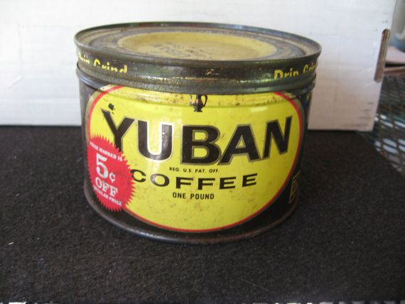 Vintage Collectible Yuban Coffee by BandSBargains on Etsy