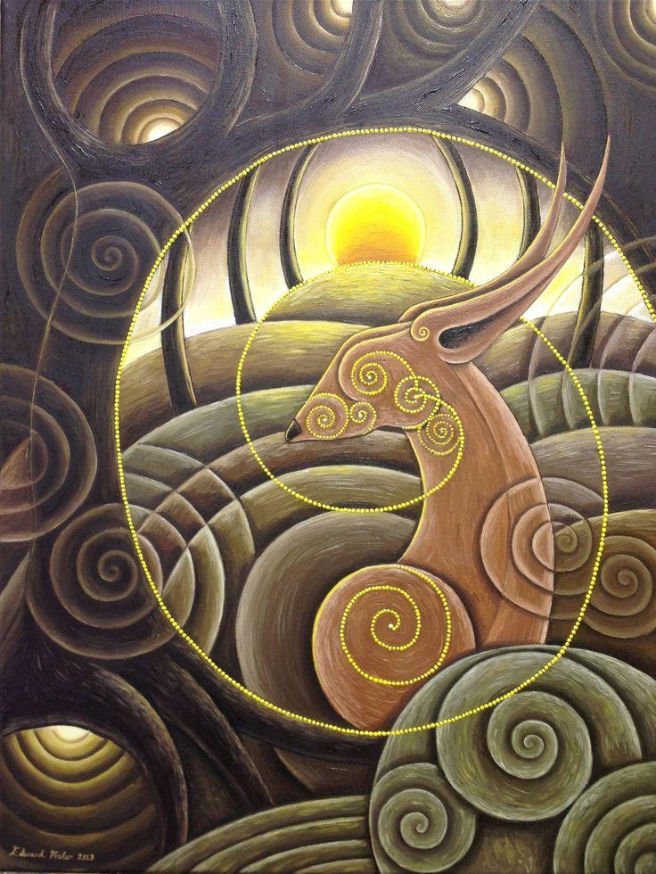 Terre Hare - pouces de 18x24 - huile sur toile - VENDU