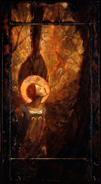 Angel with Copper Halo by J. Kirk Richards