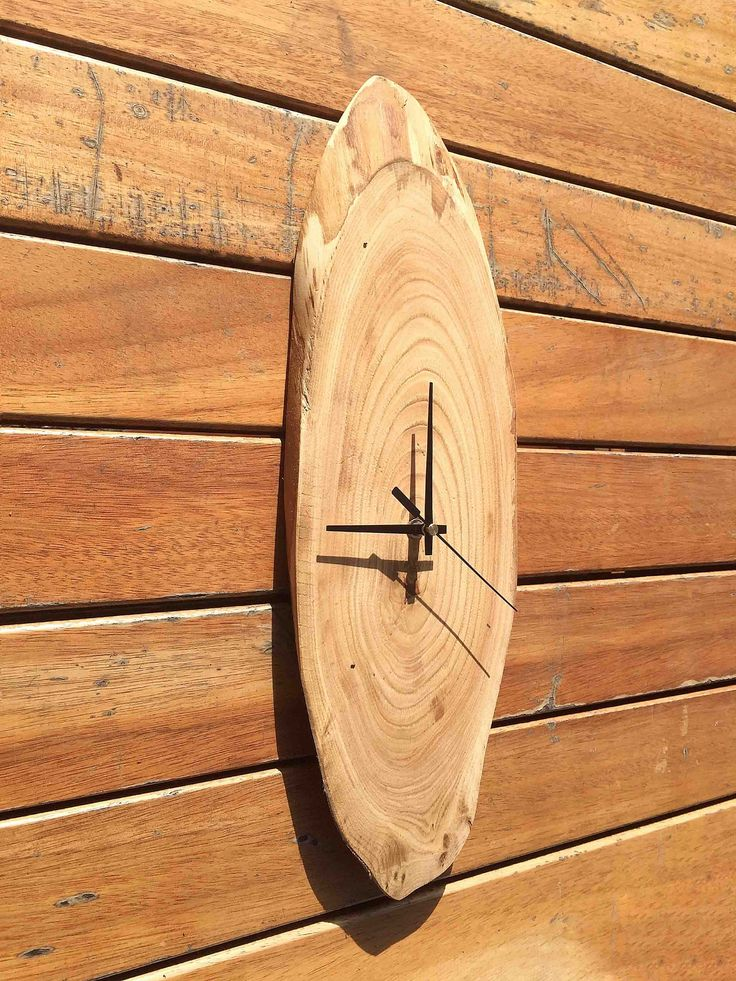 Large Wooden Wall Clock, Rustic Wooden Slice, Large Wall clocks, Big Wall Clock, Reclaimed Wood Wall Clock by WoodclockDesign on Etsy