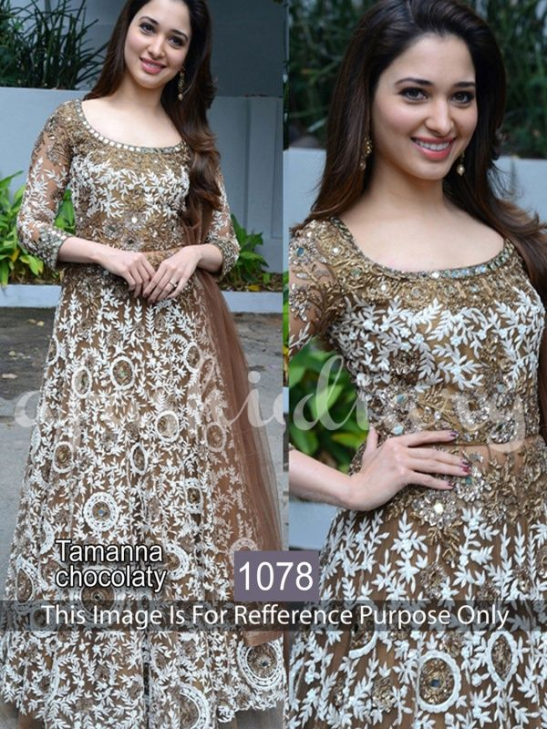 A Great Party Wear Semistitched Dress To Suit All New Wedding Season. Top Net, Dupatta Net And A Santoon Bottom.